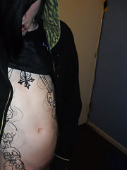 Hot emo guy Josh Osbourne jerks off on his bedroom floor, showing off his sexy body, large schlong and epic tattoos gay boy sex picture galleries - ro