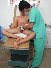 The doctor tried, but it was very sensitive gay anal pasive first