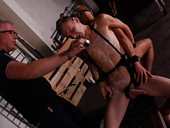Naked chained twink and nasty sex position...