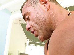 I fucked him like an animal on the massage table until he busted a nut all over himself gay interracial sample video