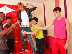 Masturbation groups men and anal group orgy gay at Crazy Party Boys