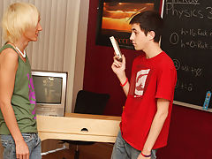Teacher Kay is likewise hungover to teach, so that guy leaves Conner Bradley and Ryan Morrison alone to watch an educational video, but the chaps have