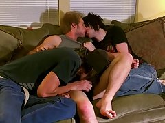 Erik is the lucky one to be double teamed by the other two twinks