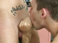 Long haired men giving blowjobs gay porn and gay porn verbal blowjob