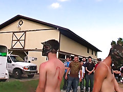 Naked pig chasing, naked bareback racing, and naked paintball... yeeeee hawww hot gay guys group sex