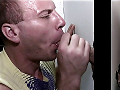 Guy gives buff black money for blowjob and uncut gay boy blowjob