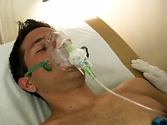 His ballsack started to tighten as the doctor quickened his rhythm which lead to the sleeping Valentino to spray his geyser all over himself. The doct