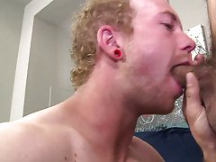 Locker room blowjob coach walk in gay porn...
