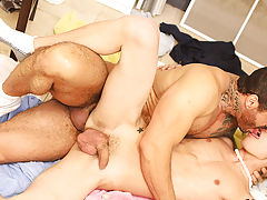 Scott knows how to take a cock, and this guy proves it as that guy takes a hard fucking from Alexsander; first, bent over the ironing board, and then