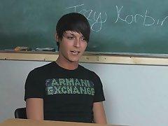 Lovely young twink pornstar Trey Korbin is sit