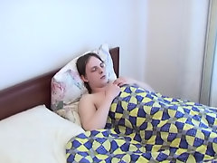 That was a bed for two, so when the older man saw his young friend lying there alone, he wanted to compensate for the gap amature gay college cock