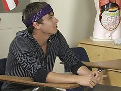 During study period Ashton Rush and Caleb Coniam are bickering amongst themselves instead of doing their work gay twinks backdoor actio at Teach Twink