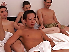 Anal group orgy gay and male masturbation...