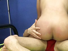 He starts with some light spanking that turns Christopher on before ramming his big dick over and over into Christopher's waiting hole gay twinks