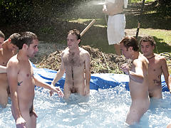 I mean its not embarrassing enough playing naked in a nasty fake pool gay hotel orgies yahoo groups