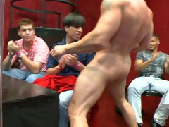 Group gay sex videos and group of straight men get horny at Sausage Party