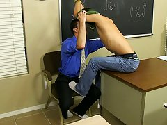He finds himself sitting on his teacher's desk while Mr. Brooks sucks his dick cute gay twink at Teach Twinks