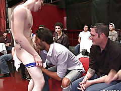 Male lipstick blowjob and gay wet tight underwear twinks at Sausage Party