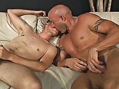 Josh goes to town on Dillion taking his huge pole and teasing it with his tongue guys anal licking