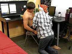 Cute boys first time sex and twink suck old man at My Gay Boss
