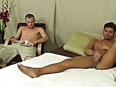 Hot gay twink blowjobs and rimming and hung twink solo at Straight Rent Boys