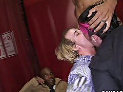 Group of men masturbate together and twink porn kissing at Sausage Party