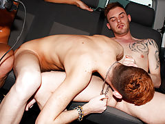 Gay twinks that suck cock and eat cum and very hairy legs lads - at Boys On The Prowl!