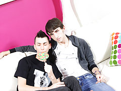 Colby London has a lollipop fetish and he's not afraid to share it with his BFF Alex Todd first masturbation male