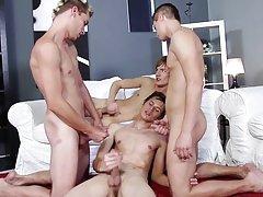 Italian gay bareback sex at Staxus