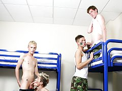 Gay male twink and mens first time gay sex...