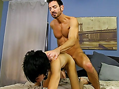 When Bryan Slater has a stressful day at work, he comes home and takes it out on his little serf boy, Kyler Moss hardcore gay hunks at Bang Me Sugar D