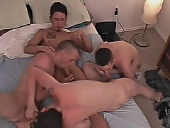 Group male physical exam and gay group sex anal