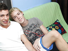 Adorable teen boy with brown hair photo album and huge cocks face fucking teen boys at Boy Crush!