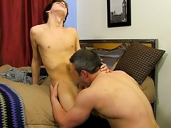 They begin to makeout and, as they undress, Kyler's diminutive body is dwarfed by Brock's beefy, athletic frame teen gaylesbian fre at Bang