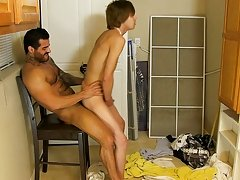 Scott knows how to take a cock, and this chab proves it as this guy takes a hard fucking from Alexsander; first, bent over the ironing board, and then