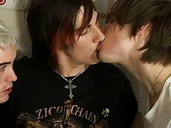 Self big cock gay and hot teen gay twinks in shiny nylon at EuroCreme