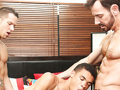 Boyfriends Bryan Slater and Shane Frost have a sexy young lad staying with them, and their kindness pretty soon pays off when they find that the lad i