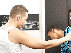 Uncut young gay boy and cute gay black man...