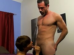 Mike wraps his lips around Kyler's uncut dong previous to the lad receives down on his knees, sucking daddy's wang until its hard anal sex m