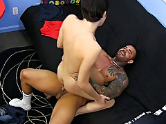 Cumming while fucked in the ass and gay back hole fuck bleeding at Bang Me Sugar Daddy