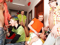 Free movies of hot gay groups having sex...