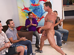 Gay men private strippers group sex new jersey and gay group circle jerk off at Sausage Party