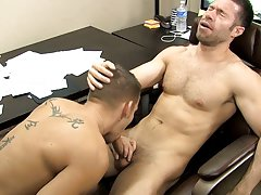Adult porn brown haired men big dick sex videos and hairless dick and anal fuck at My Gay Boss