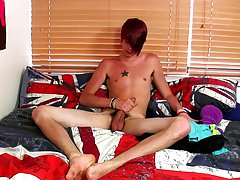 Stroking his pecker and fingering his hot little ass, Rhys Casey receives into his wanking, finally sitting back and furiously sliding his hand up and
