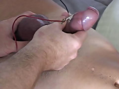 Gay male mutual masturbation...