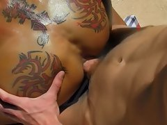 Gay porn anal dildo picture and men with big cocks in underwear at Bang Me Sugar Daddy