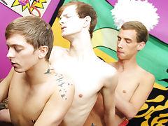 Teen twink underwear jerking and emo gay...