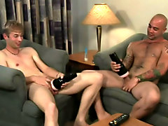 Watch hairy hunks recover from orgasm...