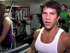 Shirtless muscle teen boy