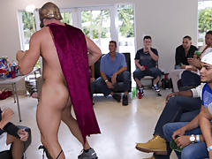Gient gay group orgy and gay group sex...